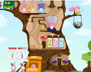 Mushberry treehouse nyuszis j�t�kok